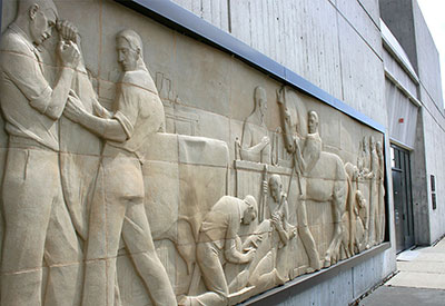 College art iowa state university for Bas relief mural