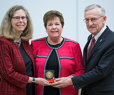 President Wintersteen with Marilyn and Roger Mahr