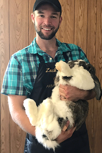 Zach Sauer with rabbit 2017