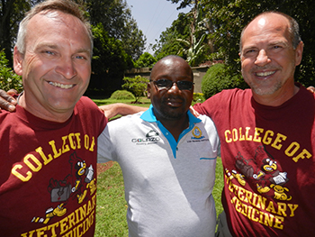 Dr. Brian Darrow and Dr. Ron Tapper in Kenya