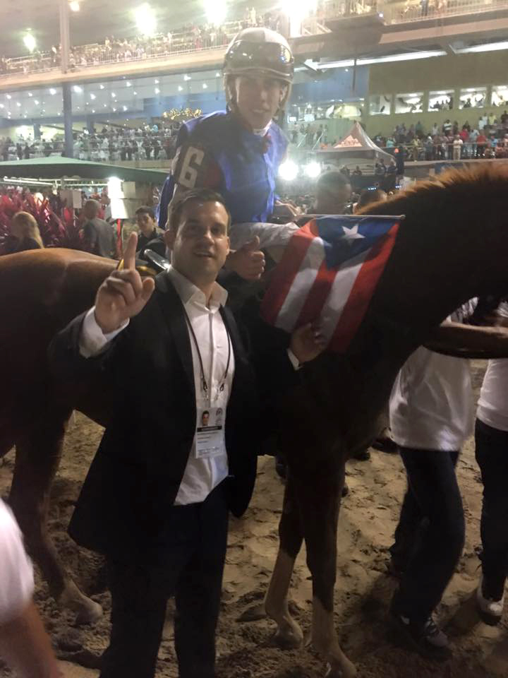 Dr. David Suarez-Fuentes at horse race