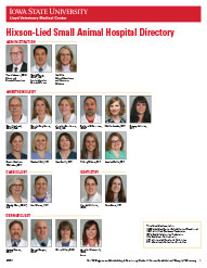 ISU LVMC Hixson Lied Small Animal Hospital Directory