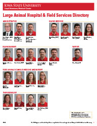 ISU LVMC Large Animal Hospital Staff Directory