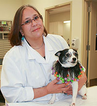 Dr. Carnevale with her dog