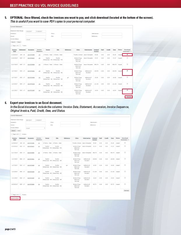 guideline for those cutilizing invoices accessed via the isu vdl web portal this viewing toll has enhanced visibility to payments and credits