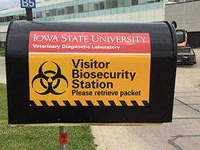 biosecurity mailbox at ISU VDL