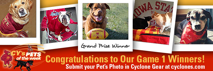 Cy's Pets of the Week Game 1 Winners