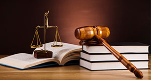 Vet Law scales and gavel