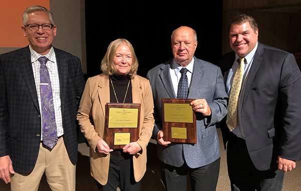 Dr. Brad Thacker and Dr. Eileen Thack received the Science with Practice Award