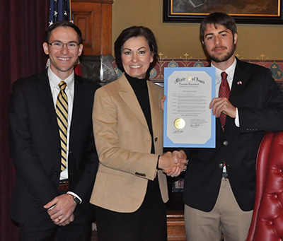Governor Kim Reynolds with One Health Proclamation