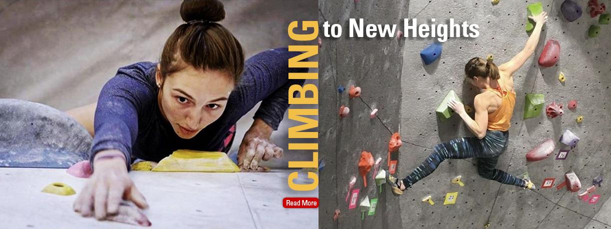 Morgan Pearson climbing