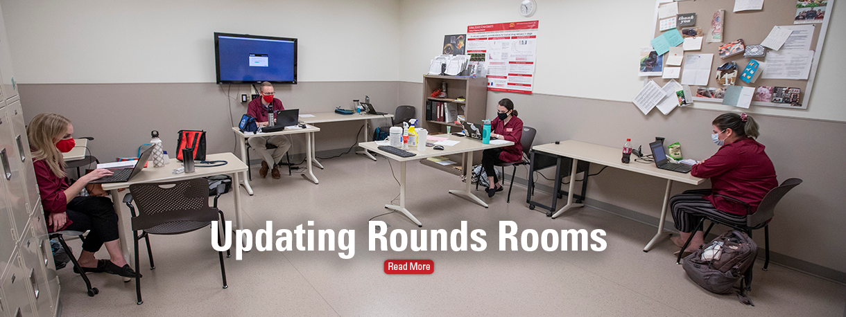 Students in Rounds Room