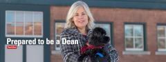 Dr. Laura Molgaard holding dog